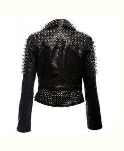 Black Spikes Studded Punk Jacket