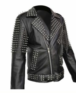 Mens Studded Cropped Jacket