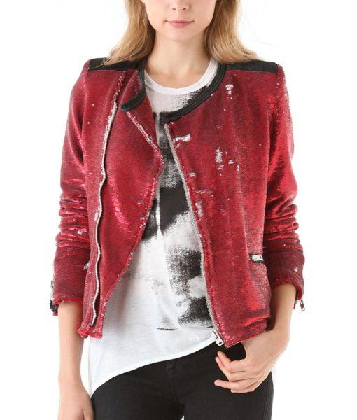 Taylor Swift Sequin Moto Jacket
