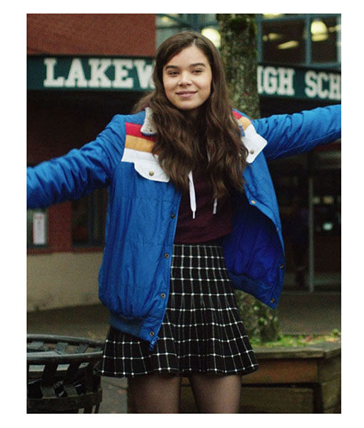 Hailee Steinfeld The Edge of Seventeen Blue Jacket