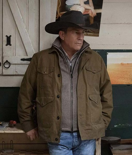 Yellowstone S02 John Dutton Brown Jacket Front