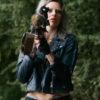 Samara Weaving Leather Jacket