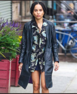 High Fidelity Zoe Kravitz Leather Coat