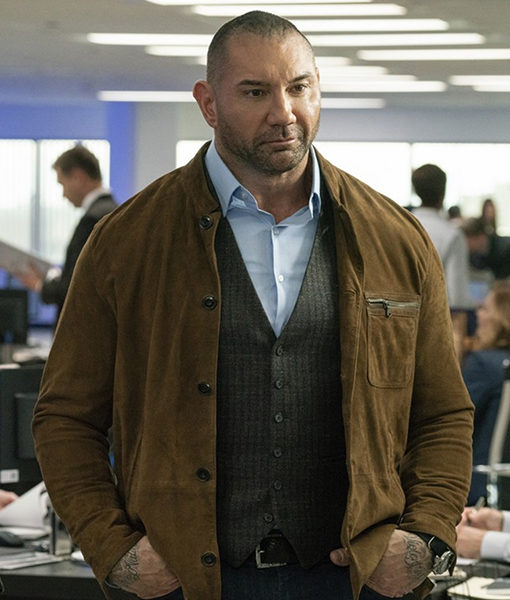 My Spy Dave Bautista Suede Leather Jacket