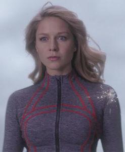 Supergirl Season 4 Red Daughter Track Zipper Shirt