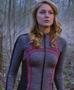 Supergirl Season 4 Track Zipper Shirt