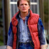 Back To The Future Marty Mcfly Red Puffer Vest