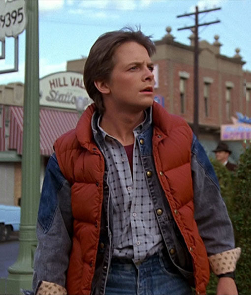 Marty Mcfly Red Puffer Vest