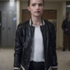Colette French Leather Bomber Jacket