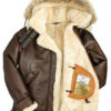 Shearling Coat With Hooded