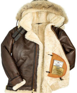 Men's B3 Shearling Coat With Hooded