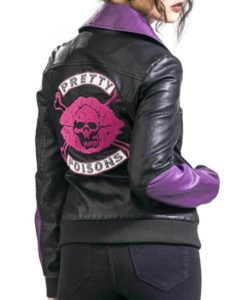 Pretty Poisons Black Leather Jacket
