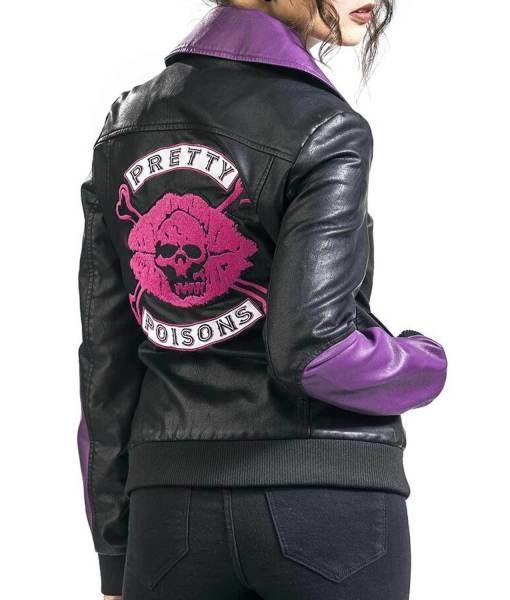 Pretty Poisons Black Leather Jacket