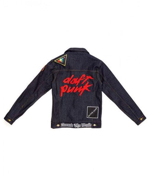 Daft Punk Black Denim Jacket