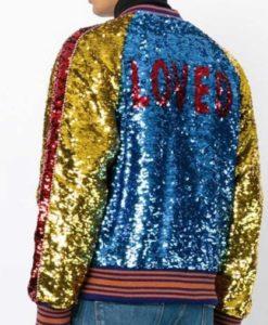 Jimin Sequin Bomber Jacket