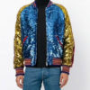 Style Sequin Bomber Jacket
