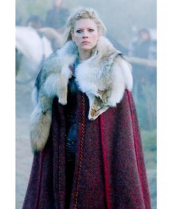 Red Cloak With Wolf Skin