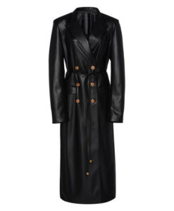 Dynasty S03 Ep16 Black Leather Coat