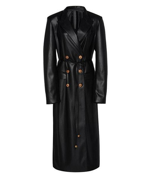 Dynasty S03 Ep16 Black Leather Coat