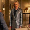Dynasty S03 Ep16 Fallon Carrington Silver Metallic Coat
