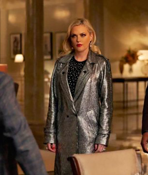 Fallon Carrington Silver Metallic Coat