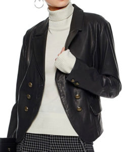 Alice Cooper Black Leather Blazer