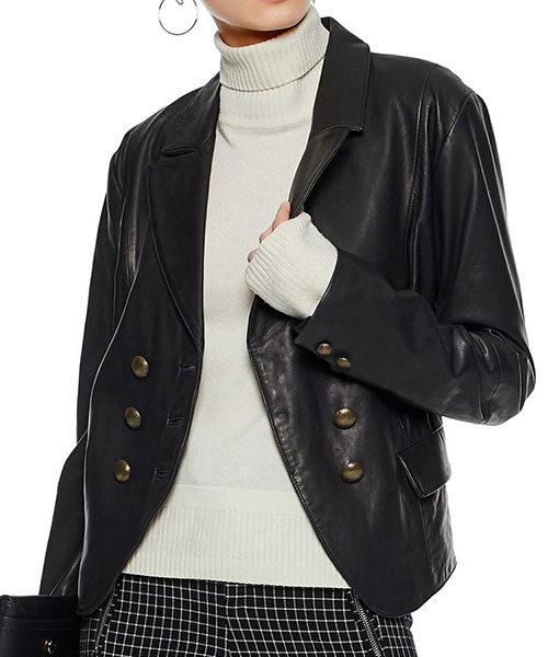 Riverdale Alice Cooper Black Leather Blazer