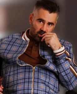 Colin-Farrell Checkered The Gentleman Coach Tracksuit