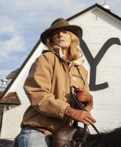 Beth Dutton Beige Yellowstone Jacket
