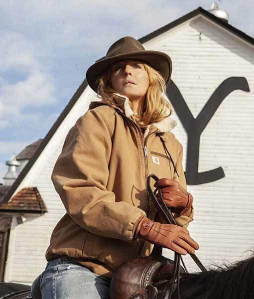 Beth Dutton Beige Yellowstone Jacket
