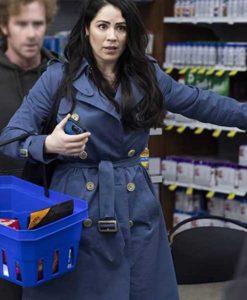 Karen Blue No Good Deed Coat