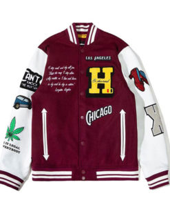 Kenya Barris Maroon BlackAF Jacket