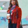 Poppy Banks Red Single Parents Jacket