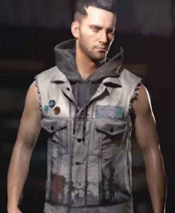 V Male Grey Cyberpunk 2077 Vest