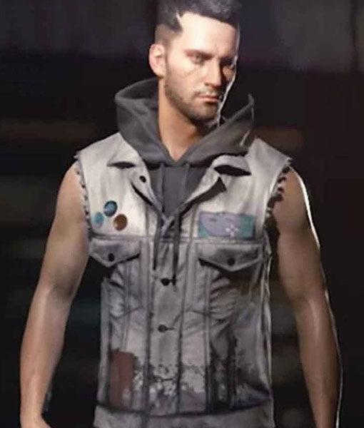 V Male Grey Cyberpunk 2077 Vest