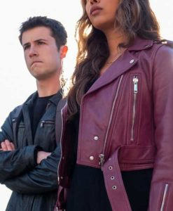 Jessica Davis 13 Reasons Why Moto Jacket