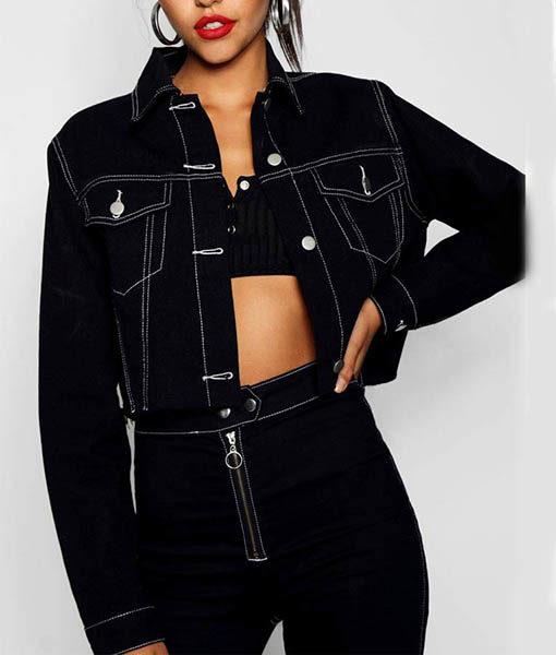 Jessica Davis Black 13 Reasons Why Jacket