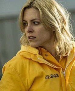 Macarena Ferreiro Orange Vis a Vis El Oasis Jacket