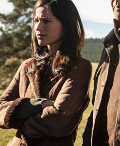 Monica Dutton Yellowstone Sheraling Coat