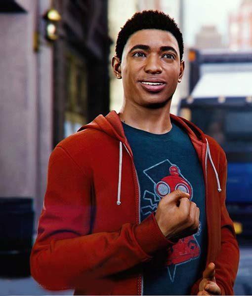 Spider-Man PS4 Miles Morales Red Hoodie