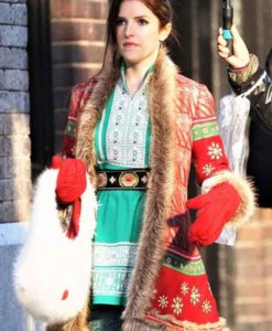 Anna Kendrick Noelle Christmas Coat