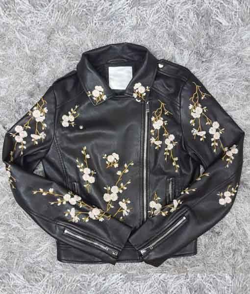 Lena Grisky Find Me In Paris Leather Jacket