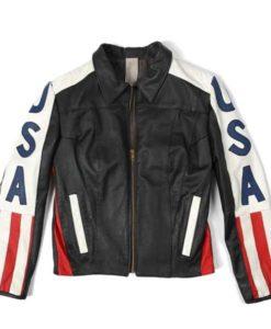 Selena Gomez USA American Flag Jacket