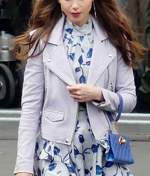 Lily Collins Emily In Paris Jacket