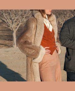 Kate Bosworth The Devil Has a Name Fur Coat