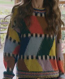 Lily Collins Emily In Paris Fluffy Sweater