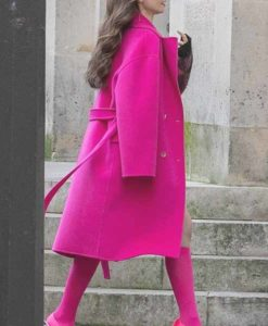 Emily Cooper Emily in Paris Pink Coat