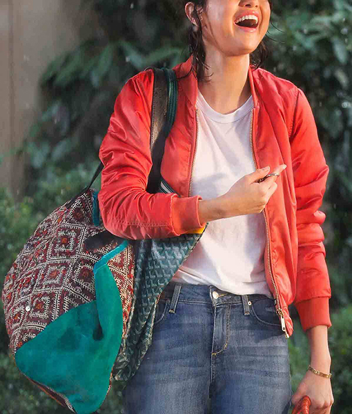 Selena Gomez A Rainy Day in New York Jacket
