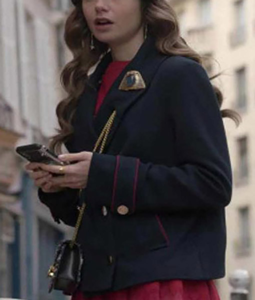 Emily In Paris Emily Cooper Peacoat