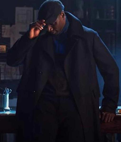 Arsene Lupin 2021 Omar Sy Black Trench Coat